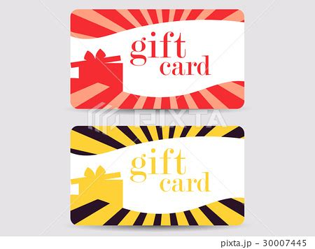 Rays Gift Cards - gift card with gift box and rays vectorのイラスト素材 30007445 pixta