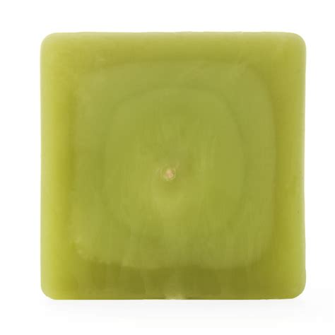 Square Candles 3x3x4 Green Square Pillar Candle