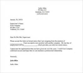 professional resignation letter template formal resignation letter template 9 free word excel