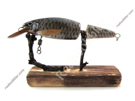 Handmade Bass Lures - handmade wooden fishing lure for the fishing of bass pike