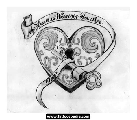lock and key tattoo design key tattoos and designs page 4