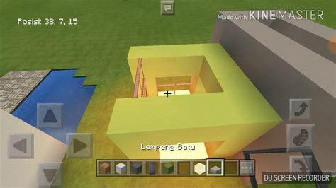 membuat rumah di minecraft cara membuat rumah modern di minecraft pocket edition part