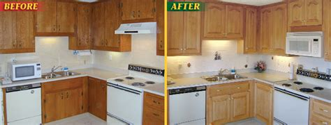 Refaced Kitchen Cabinets Before And After by Kitchen Cabinet Refacing Before And After Rapflava