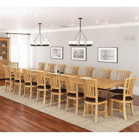 brussels teak wood large extendable dining table   people