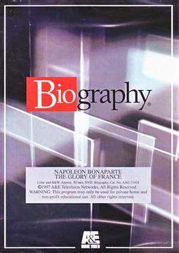 biography napoleon bonaparte the glory of france a e biography napoleon bonaparte glory of france dvd