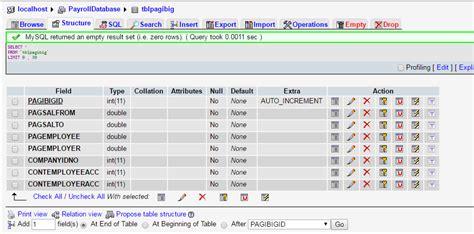 database table design 103 payroll system database design using mysql