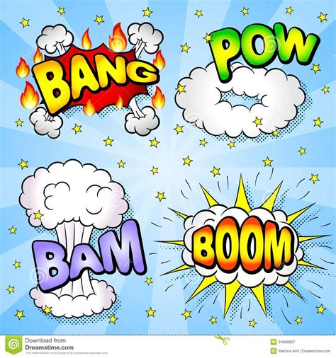 Comic Book Elements Royalty Free Stock Photography Image