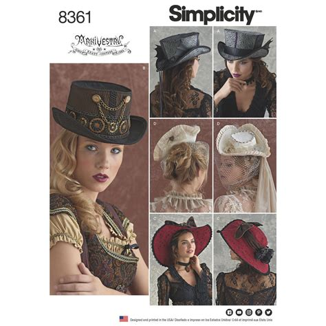 Home Decorating Catalogs by Simplicity Pattern 8361 Hats In Three Sizes