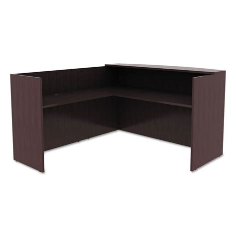 Espresso Reception Desk Virginia Modern L Shaped Reception Desk Eurway