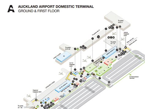 Room Sketch by Airport Maps Auckland Airport