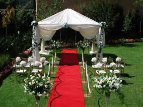 Small Garden Wedding Ideas Outdoor Wedding Ceremony Decorations Decoration
