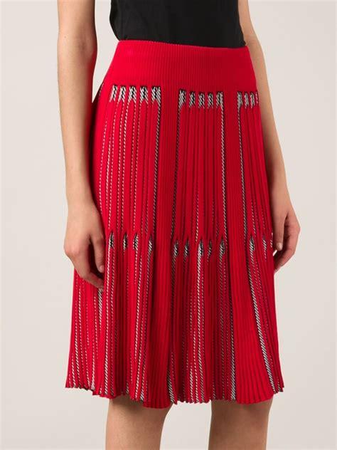 rykiel pleated knit skirt in lyst