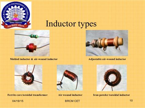 different types of inductors ppt types of inductor ppt 28 images induction furnace resistors resistors limit current create