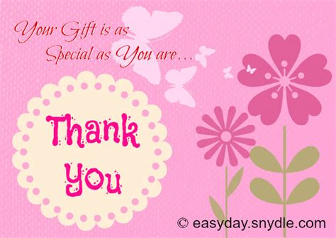 Thank You For Birthday Gift Card Sle Thank You Note For Gift Google Search Thank You