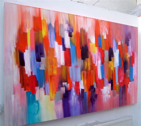how to acrylic paint on canvas abstract abstract canvas acrylic painting by seb farrington