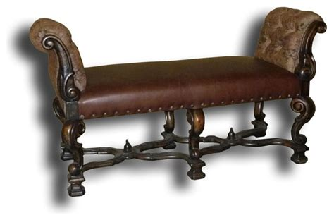 brown leather bench seat window seat bench brown leather indoor benches by euroluxhome