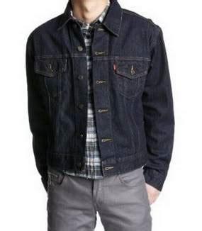 Jaket Levis Biru Dongker dinomarket pasardino jaket levis biru dongker ready
