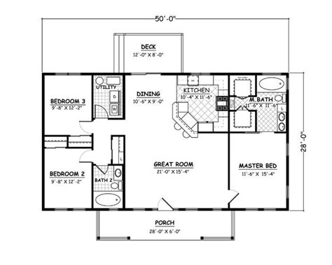 1400 sq ft house plans h74 ranch house plans 1600 sq ft slab 3bdrm 2 bth youtube