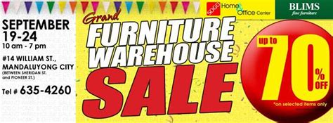 sogo home office grand furniture warehouse sale sept 19