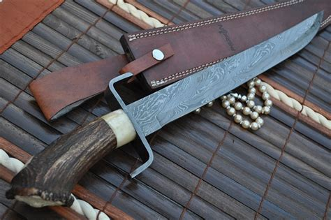 Handmade Swords Review - custom handmade damascus knife mini sword perkin