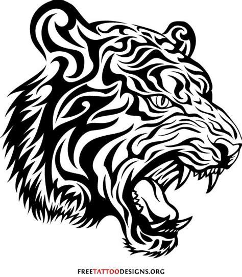 tribal tiger head tattoo sample