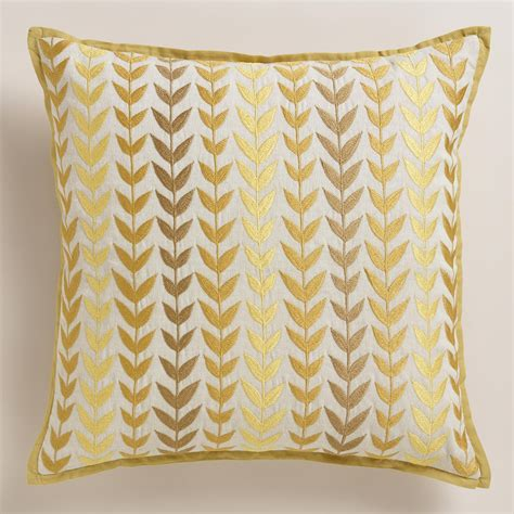 Grey Yellow Pillows by Yellow And Gray Geometric Throw Pillow World Market