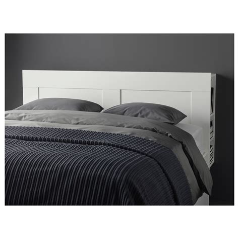 Ikea King Headboard Brimnes Headboard With Storage Compartment White Standard King Ikea