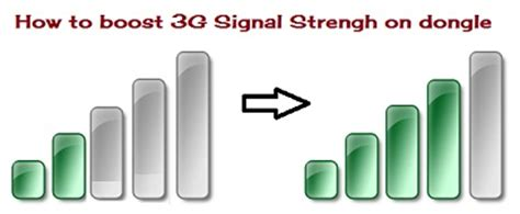how to improve signal reception on 3g 4g lte dongle data