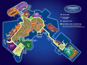 map of the resort coushatta casino resort