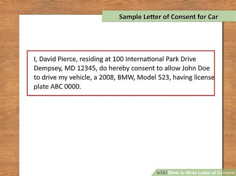 Parental Consent Letter For Part Time how to write letter of consent with downloadable sle