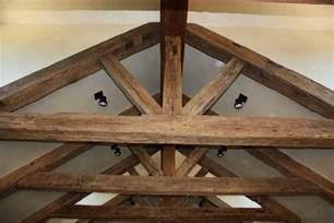 rustic wood ceiling beams hewn ceiling beams for a rustic historical look