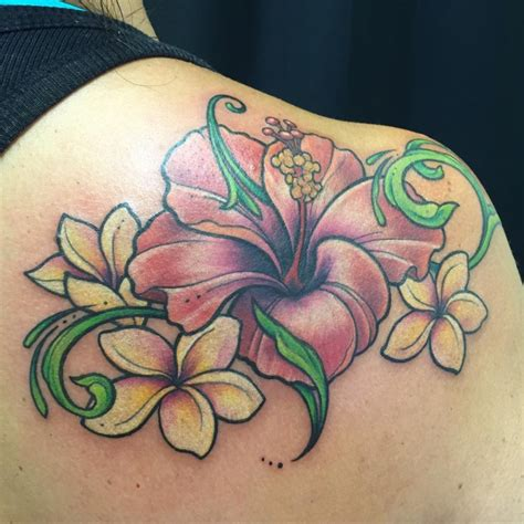 hawaiian flower tattoo designs floral vetorizado hawaii pictures to pin on