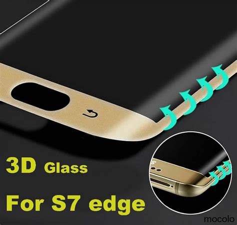 Tempered Glass Samsung S7 Edge 3d Cover Edge s7 edge glass curved surface silk printing 3d cover tempered glass for samsung galaxy
