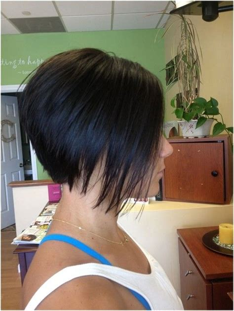 one side stack sassy bob bllack hair 15 trendy stacked bob haircut looks pretty designs