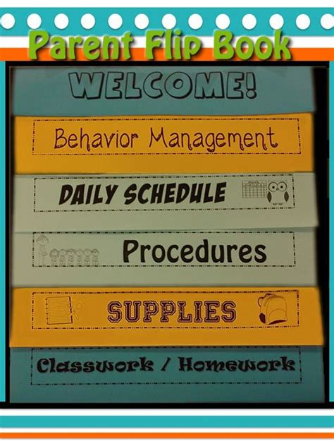 Parent Flipbook Editable Back To School Night Teaching And House Flip Book Templates For Teachers