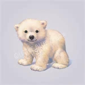 illustrated polar bear print blue zebra notonthehighstreet