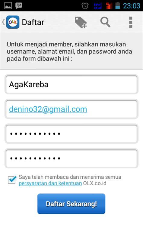 email olx cara terbaru daftar membuat akun olx melalui smartphone