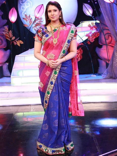 enna porutham buy sanaya pink blue designer saree from aaha enna