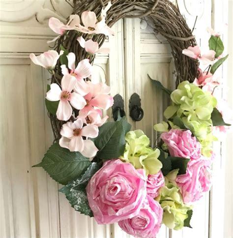 How To Make A Tissue Paper Wreath - diy tissue paper flower wreath hallstrom home