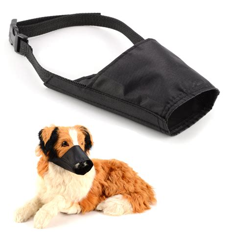 muzzle for biting safety muzzle adjustable stop biting barking nipping chewing black ebay