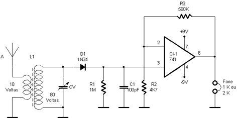 capacitor variavel para radio am circuitos eletr 244 nicos esquema de recptor de am ci741