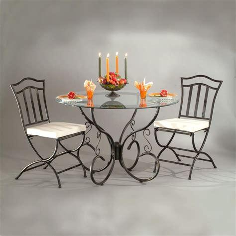 table de s 233 jour ronde diam110xh76cm reva en fer forg 233 verre port offert