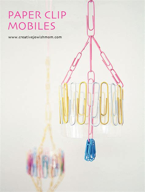 Paper Clip Craft Ideas - paper clip mini mobiles that make adorable decorations