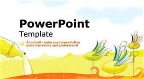 tale powerpoint template card ventilation children s day tale sea world free ppt template powerpoint