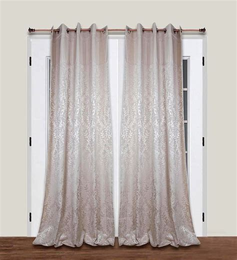 48 long curtains living essence silver polyester 108 x 48 inch contemporary