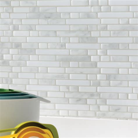 smart tiles stainless 10 625 in w x 10 00 in h peel and green glass subway tile kitchen