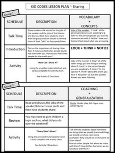 social skills lesson plan template social skills lesson plans and interactive