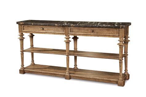 Pavilion Marble Console Table In Coastal Barely Finished Pine Coastal Sofa Table