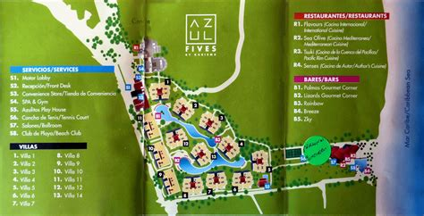 azul resort map plan de l h 244 tel h 244 tel azul by karisma trip