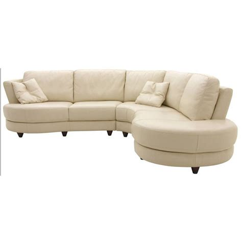 Home Element Curved Sectional Sofa Lynn Sectional White Curved Leather Sofas